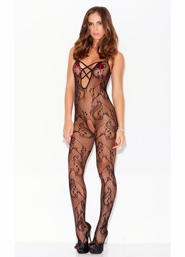 Flower Net Bodystocking