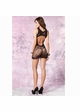 Flower Net Mini Dress with Cutout Back inset 1