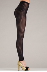 Footless Tights with Button Cuffs
