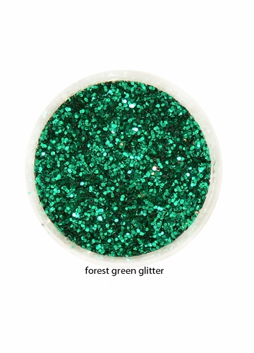 Forest Green Color of Luxe Glitter Powder for Eyeliner and Eye Makeup