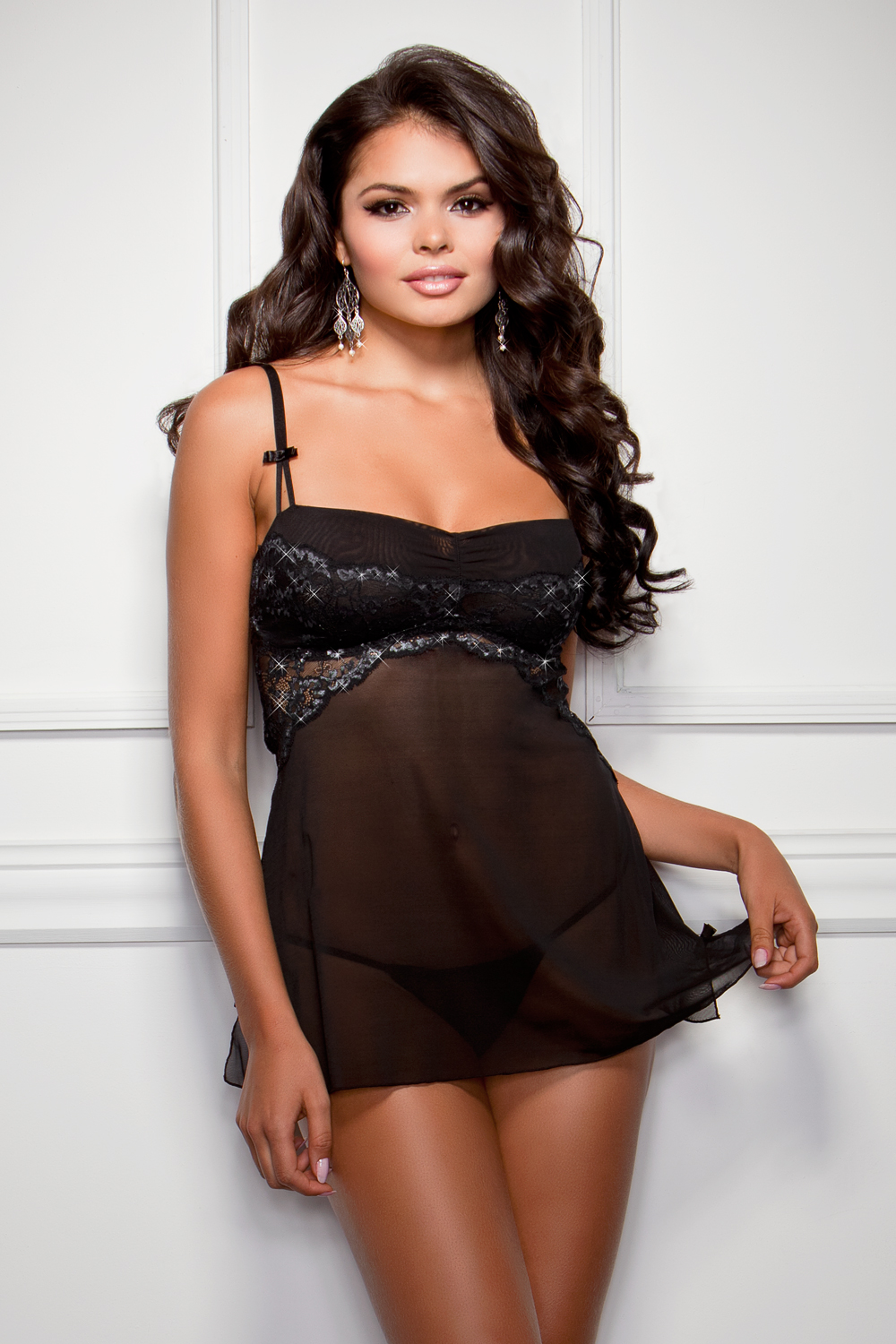 Foxy Lace Babydoll with G-string