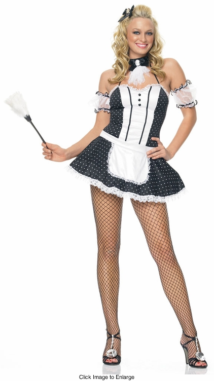 French Maid Costumes with Polka Dots