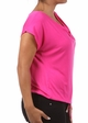 Fuchsia Plus Size Short Sleeve Cowl Neck Top inset 2