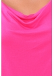 Fuchsia Plus Size Short Sleeve Cowl Neck Top inset 4