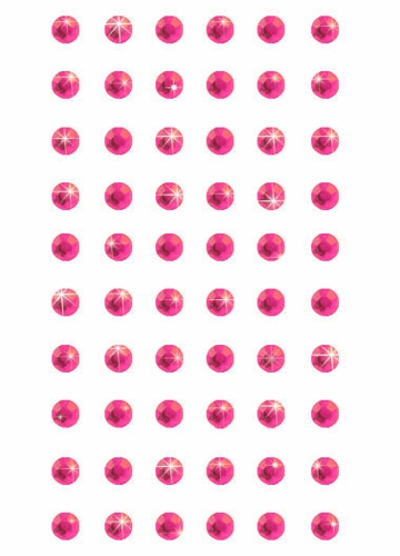 Fuchsia Small Self-Adhesive Face Gems