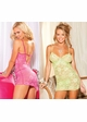 Glam Stretch Lace Mini Dress and G-string inset 1