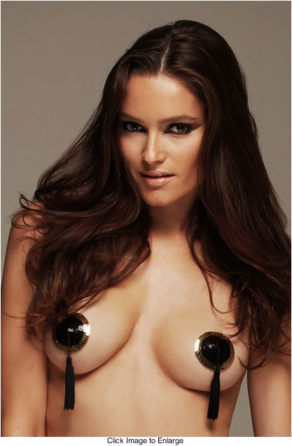 Gold and Black Sequin Pasties