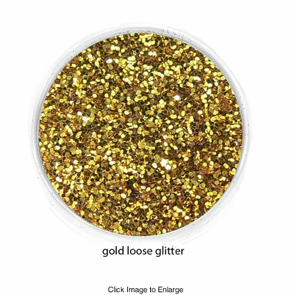 Gold Color of Luxe Glitter Powder for Eyeliner and Eye Makeup