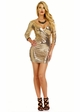 Gold Sequin Dress with Plunging Neckline inset 2