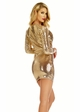 Gold Sequin Dress with Plunging Neckline inset 3