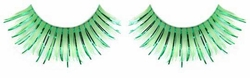 Green False Eyelashes with Green Metallic for $6.00