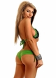 Green Sequin Bikini  with Shirred Back inset 1