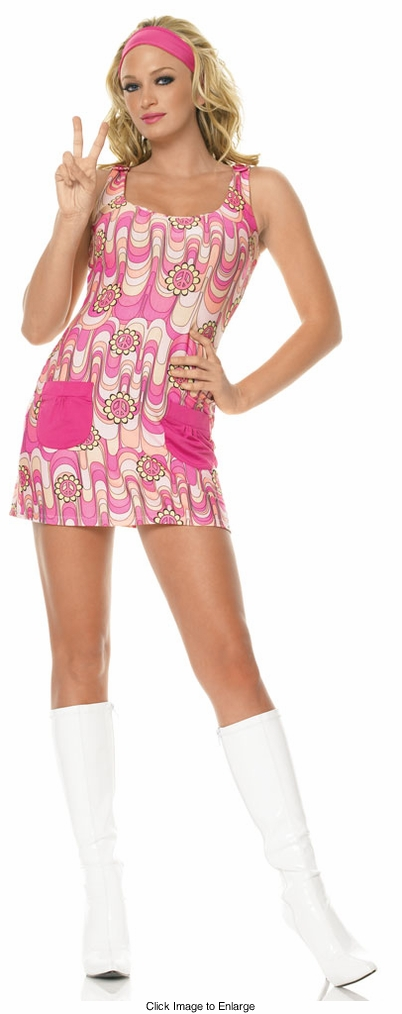 Groovy Peace Daisy Gogo Dress Costumes