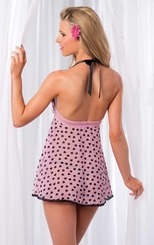 Heart and Lace Babydoll with G-string
