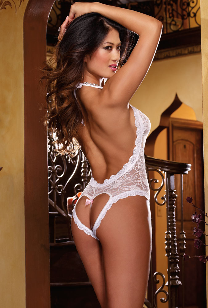 Heart Back Bridal Bodysuit