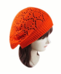 Heart Crochet Beret Hat