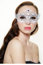 Heart of the Masquerade Gem Crystal Mask