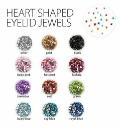 Heart Shaped Eyelid and Hair Jewels