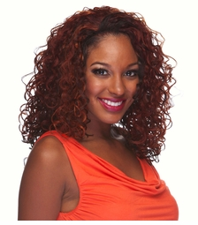 Heat and Styling Friendly 3/4 Wig with Medium Bouncy Curls
