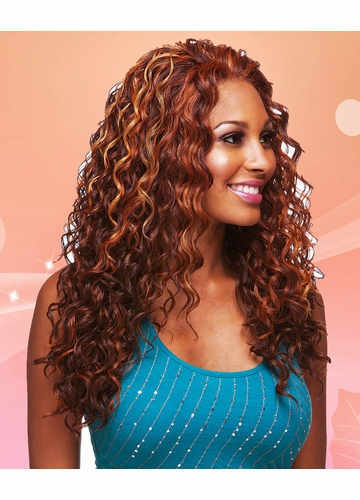 Heat and Styling Friendly Front  Lace Wig with Long Cascading Curls