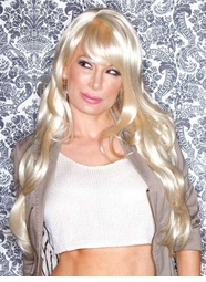 Heat and Styling Friendly Long Hair Wig in Blonde