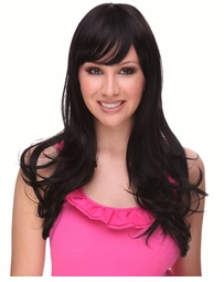 Heat and Styling Friendly Long Hair Wig with Long Layers and Bangs