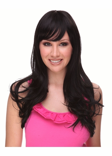 Heat & Styling Friendly Long Hair Wig Kristen /w Long Layers & Bangs