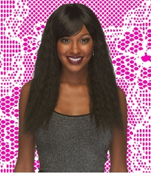 Heat and Styling Friendly Zig-Zag Waves Wig with Side Swept Bangs