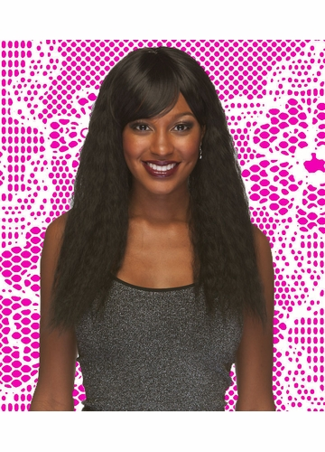Heat and Styling Friendly Zig-Zag Waves Wig Smash with Side Swept Bangs