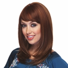 Heat Friendly Shoulder Length Bob With Graduated Layers & Rich Bangs