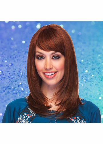 Heat Friendly Shoulder Length Bob Wig /W Graduated Layers & Rich Bangs