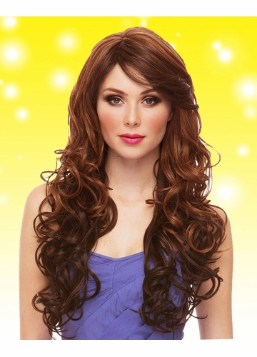 Heat Safe Glamorous Long Curly Wig