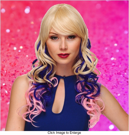 Heat Safe Long loose Curl Wig with Rich Bangs