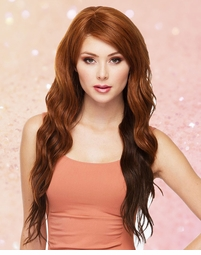 Heat Safe Long Loose Curl Wig with Side Swept Bangs