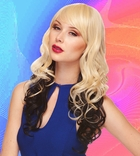 Heat Safe Long Tousled Layers Wig with Rich Bangs