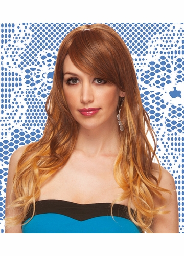 Heat Safe Long Tousled Layers Wig Pandora with Rich Bangs
