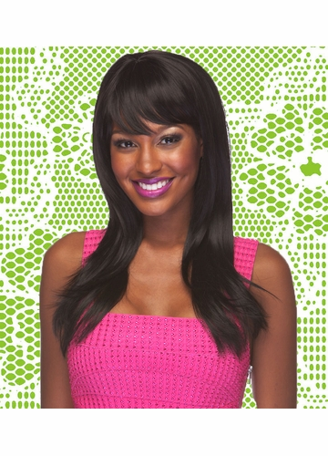 Heat & Styling Friendly Long Hair Wig Smooth Layers & Full Bangs