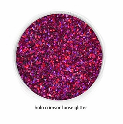 Holo Crimson Red Color of Luxe Glitter Powder for Eyeliner & Makeup