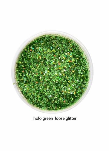 Holo Green Color of Luxe Glitter Powder for Eyeliner and Eye Makeup