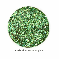 Holo Green Color of Luxe Glitter Powder for Eyeliner & Eye Makeup
