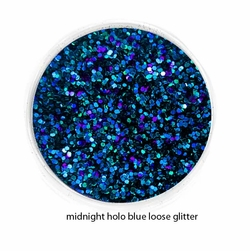 Holo Midnight Blue Color of Luxe Glitter Powder for Eyeliner & Makeup