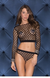 Honeycomb Net Top and Panty