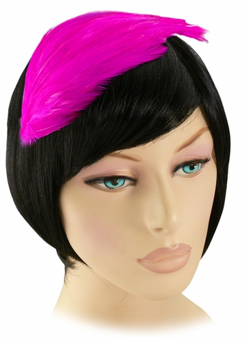 Hot Pink Feather Fascinator Headband