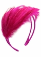 Hot Pink Feather Fascinator Headband inset 1