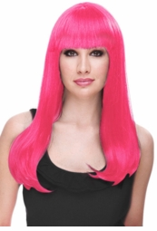 Hot Pink Glamour Wig for $29.99