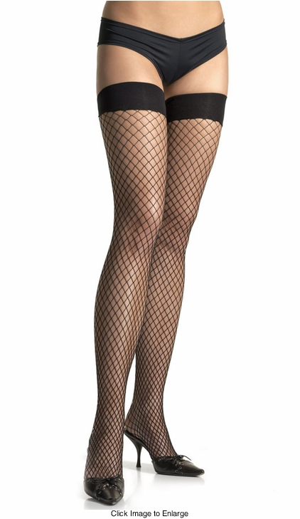 Industrial Fishnet Thigh High Stockings