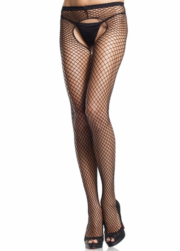 Industrial Net Crotchless Fishnet Pantyhose