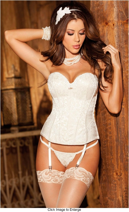 Ivory Tapestry Corset and G-string
