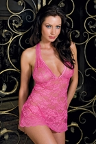 Jasmin Lace Halter Mini Dress and Thong
