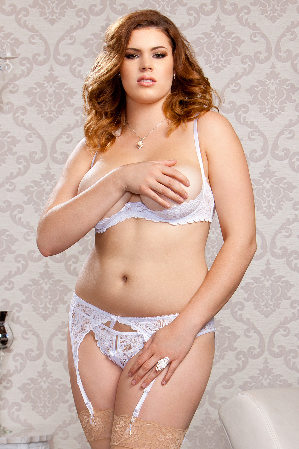 Jasmin Open Bust Lace Shelf Bra